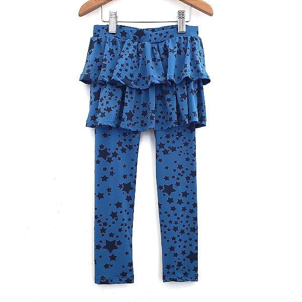 Legging Saia Estrela Azul