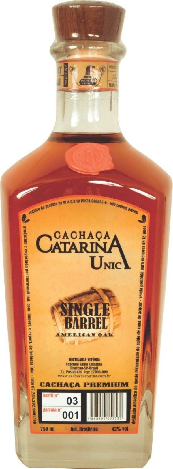 Cachaça Catarina Única Single Barrel 750ml