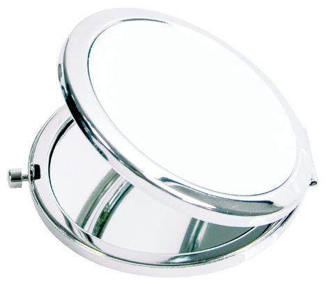 Espelho Estojo de Bolso Compacto Redondo Glossy em Metal Para Sublimação (2425) - 01 Unidade