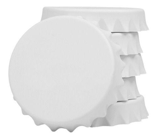 Abridor Imã em Polímero Para Sublimação Formato Tampa de Garrafa 7cm (3805) - 01 Unidade