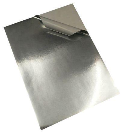 Vinil Adesivo Prata Para Sublimação Tamanho A4 (285) Para Tinta Sublimática - 10 Folhas