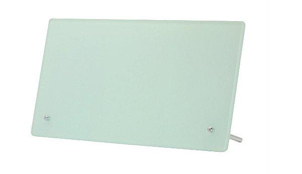 Porta Retrato de Vidro Linha Luxo Formato Retangular Branco 14,5 X 27,5 CM Para Sublimação - 01 Unidade (2124)