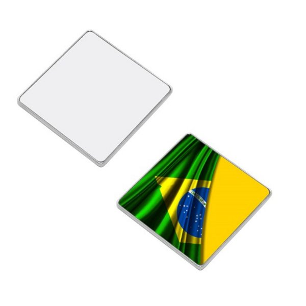 Imã de Geladeira Para Sublimação Formato Quadrado 5,5 X 5,8 CM (2212) - 01 Unidade