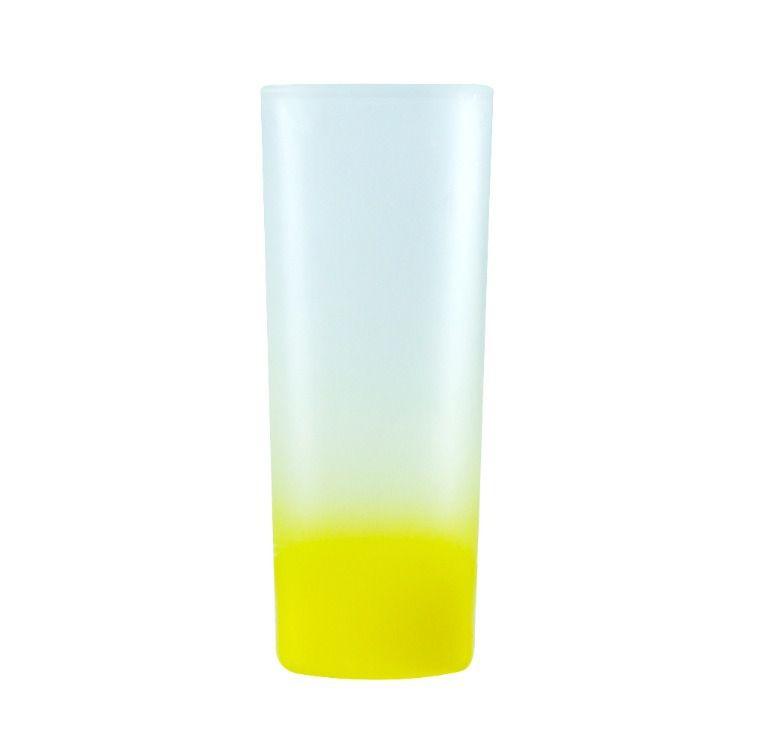 Copo Mini Drink 90ml Vidro Jateado Fosco Degradê Amarelo Para Sublimação (3455) - 01 Unidade