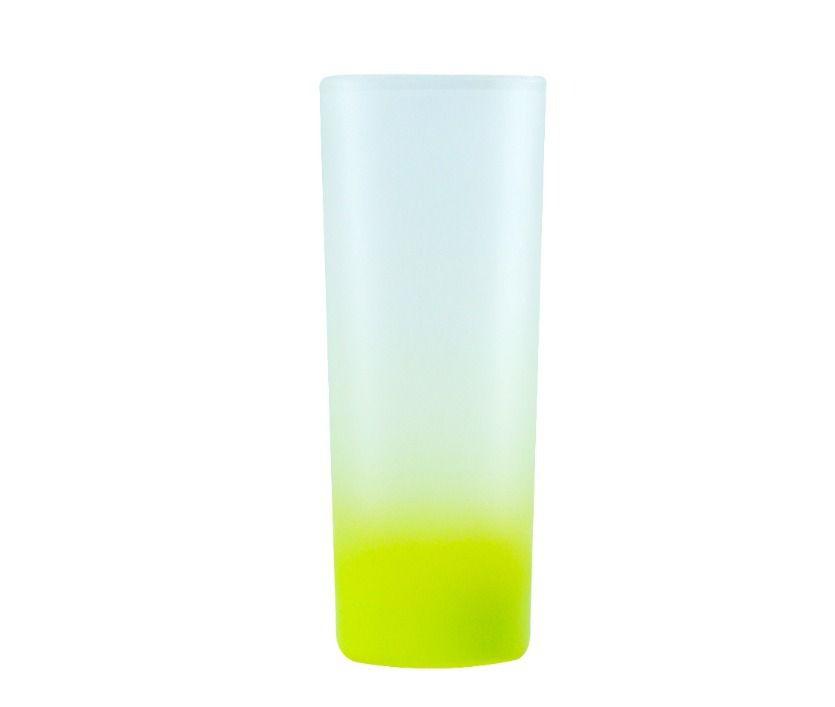 Copo Mini Drink 90ml Vidro Jateado Fosco Degradê Amarelo Limão Para Sublimação (3459) - 01 Unidade