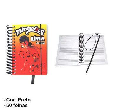 Bloco de Anotações Capa PVC Para Sublimação - 9,5x14,5 cm (100 páginas - 50 folhas)