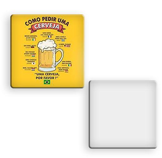 Porta copo Para Sublimação quadrado 9x9cm Laminado de PVC 0,40mm - Pacote c/ 10 Unidades