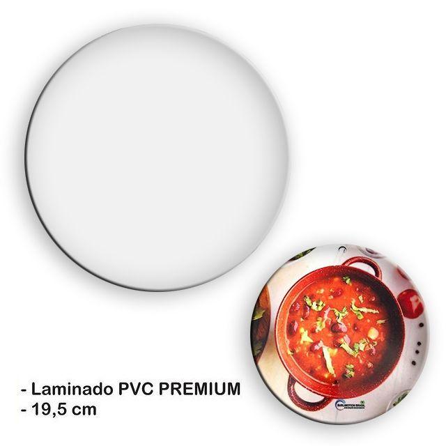 Apoio Descanso Panela Para Sublimação Laminado de PVC 0,40mm (19,5cm) - Pacote c/ 10 unidades
