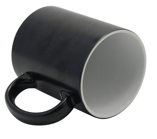 Caneca Cerâmica Mágica Preta Semi Brilho 325ml Para Sublimação (573) - 01 Unidade