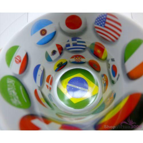 Caneca Cerâmica 325 ml Branca Motto Mug Resinada P/ Sublimação - Bandeiras ShopVirtua3000® (1935) - 36 Unidades (Caixa Fechada)