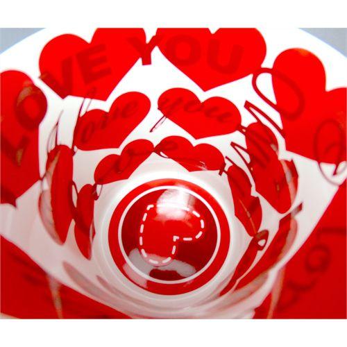 Caneca Cerâmica 325 ml Branca Motto Mug - I love You ShopVirtua3000® (580) - 36 Unidades (Caixa Fechada)