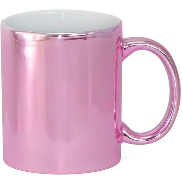 Caneca Cerâmica Cromada Pink P/Sublimação 325ml ShopVirtua3000® (1980) - 01 Unidade