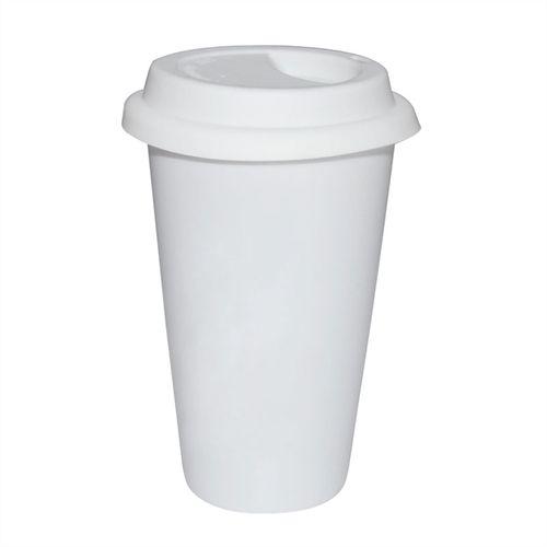 Copo Cerâmica Branca Café StarBucks 310ml Resinada P/ Sublimação (B136) - 01 Unidade