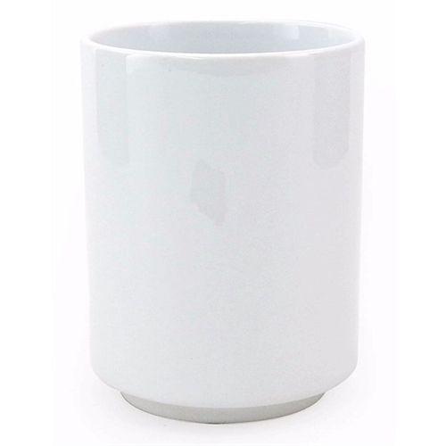 Copo de Chá Japonês em Cerâmica Branca 325ml Resinada P/ Sublimação (B040) - 01 Unidade