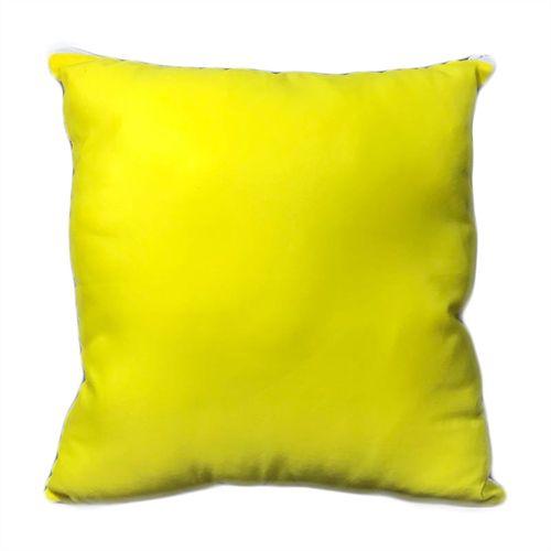 Capa para Almofada Amarela 45x45cm em Microfibra para Sublimação - 01 Unidade