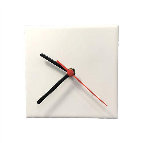 Relógio Em Azulejo para Sublimação Ultra Brilho 15x15 Cm - 10 Unidades (AL13004)