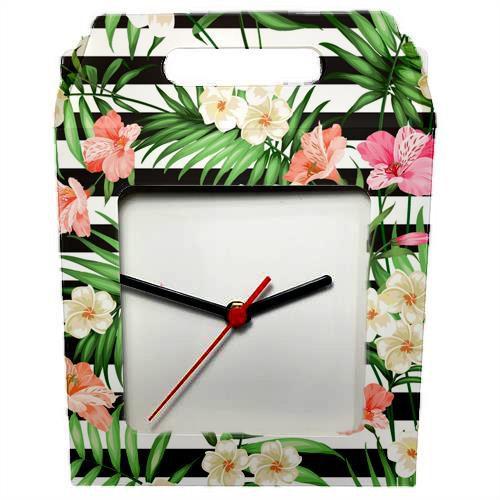 Caixinha Para Azulejo ou Relógio Totalmente Sublimável Reforçada Em Papel Duplex 275 Gr Com Janela 15x15 cm (AL3005) - 01 Unidade