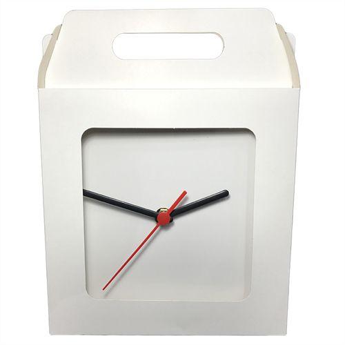 Caixinha Para Azulejo ou Relógio Totalmente Sublimável Em Papel Duplex 275g Com Janela 15x15 cm (AL3005) - 10 Unidades
