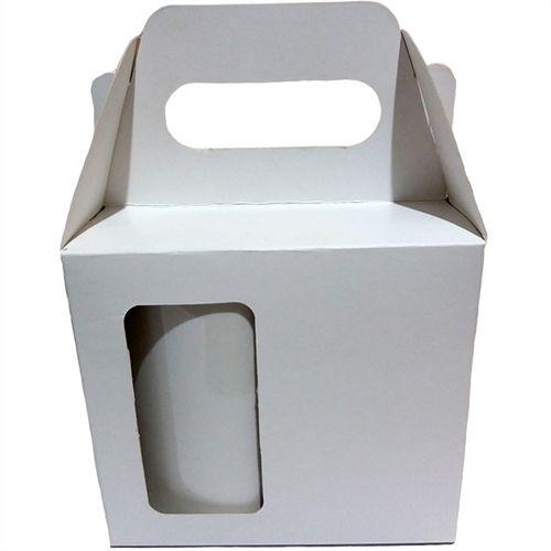 Caixa para Caneca Totalmente Sublimável Com Janela e Alça para Canecas Cilindricas e Cônicas Até 340ml - 10 Unidades (AL3000)