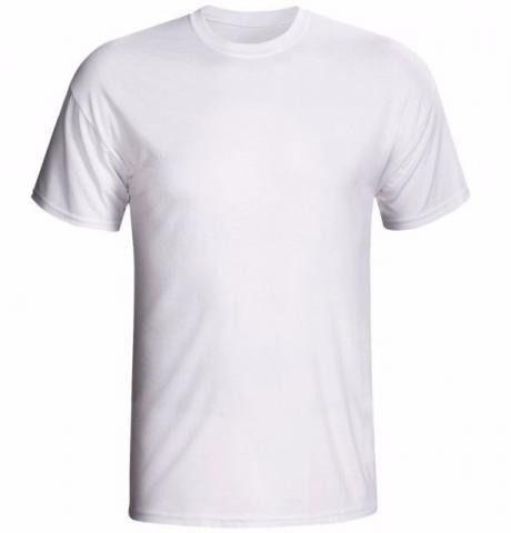 Camiseta/Camisa Tamanho GG Gola Careca Manga Curta Unissex em Malha 100% poliéster Branca Sublimática (CA1001) - 01 Unidade