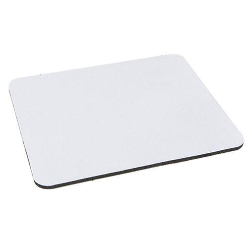 Mouse Pad Extra Branco Retangular 19x23cm P/Sublimação Com Base Em Neoprene Preto de 3mm Antiderrapante - Pacote à Vácuo Com 10 Unidades (2.A001)