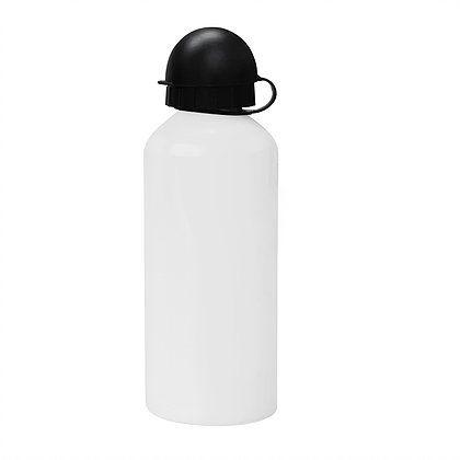 Squeeze Branco 600ml em Alumínio C/biqueira e tampa Bolinha P/Sublimação (ShopVirtua3000®) (1081) - 01 Unidade