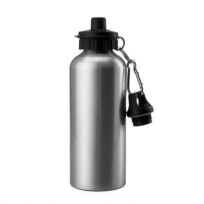 Squeeze Prata 600ml em Alumínio C/biqueira e tampa Dupla P/Sublimação (ShopVirtua3000®) (1096) - 01 Unidade