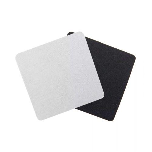 Porta Copos Quadrado Para Sublimação 8,5 cm Base Em EVA Preto de 3mm - Pacote à Vácuo Com 10 Unidades (AL11005)