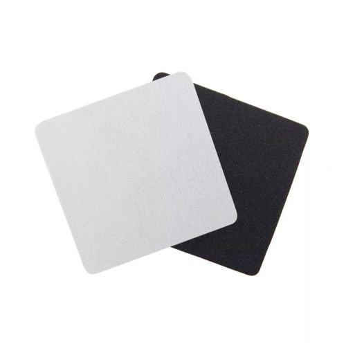 Porta Copos Quadrado Para Sublimação 9x9cm Base Em Latex Preto de 3mm - Pacote à Vácuo Com 10 Unidades (AL11000)
