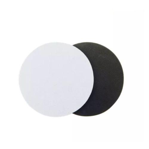 Porta Copos Redondo Para Sublimação 8,5 cm Base Em Neoprene Preto de 3mm - Pacote à Vácuo Com 10 Unidades (AL11004)