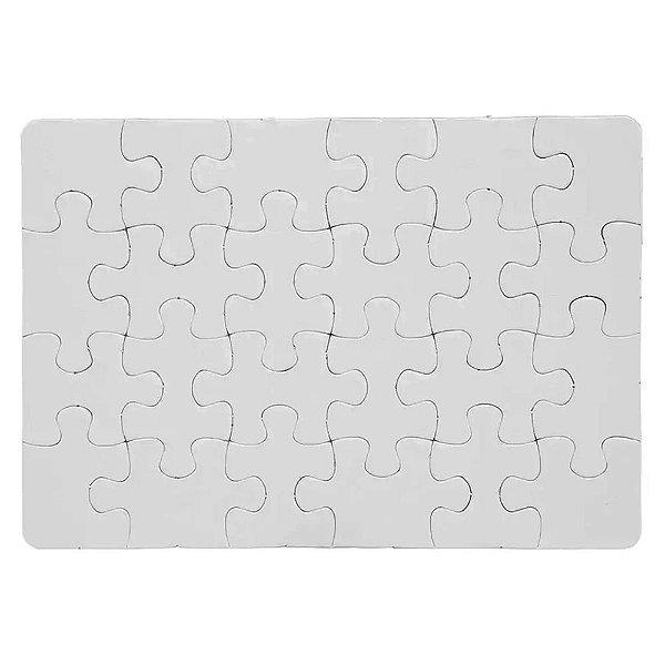 Quebra Cabeça para Sublimação Retangular A4 (20cm x 28cm) 24 Peças - Pacote Com 05 Unidades (AL12001)
