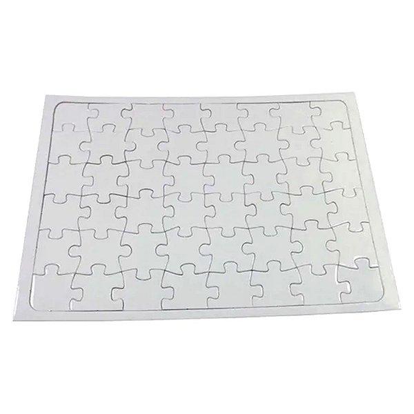 Quebra Cabeça para Sublimação Retangular A4 (20cm x 28cm) 40 Peças - Pacote Com 05 Unidades (AL12002)