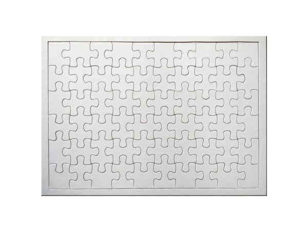 Quebra Cabeça para Sublimação Retangular A4 20cm x 28cm - de 60 Peças - Pacote Com 05 Unidades (AL12004)