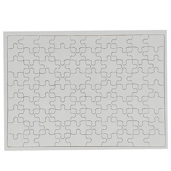 Quebra Cabeça para Sublimação Retangular A4 20cm x 28cm - de 90 Peças - Pacote Com 05 Unidades (AL12005)
