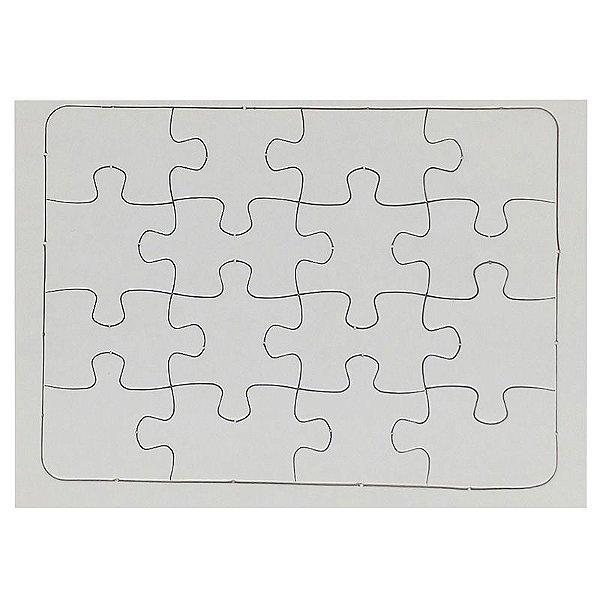 Quebra Cabeça para Sublimação Retangular A5 (20cmx15cm)  16 Peças - Pacote Com 05 Unidades (AL12006)