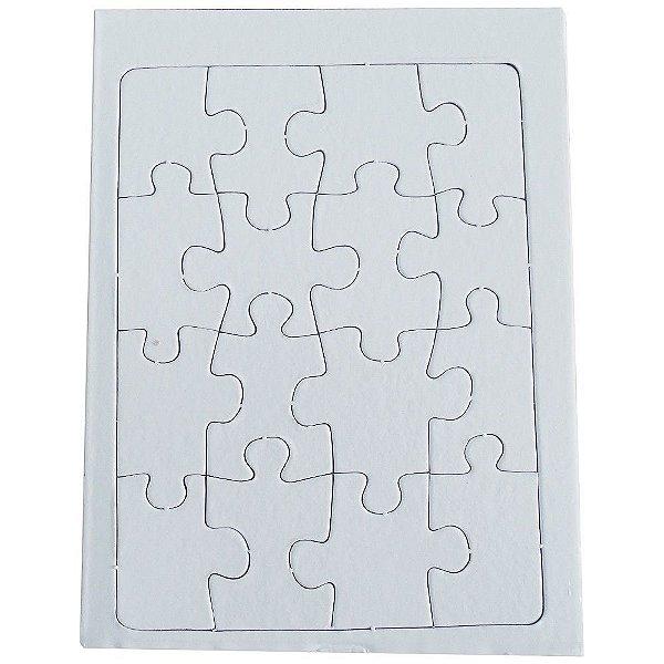 Quebra Cabeça para Sublimação Retangular 10x15cm de 12 Peças - Pacote Com 05 Unidades (AL12007)