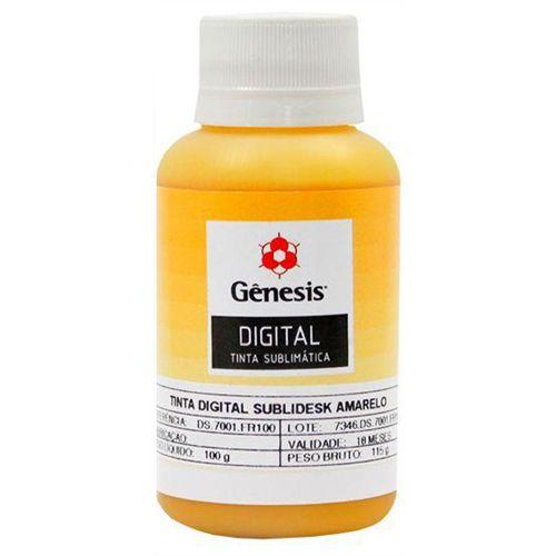 Tinta para Sublimação Digital Sublidesk Amarelo 100ml Gênesis (DS7001) - 01 Unidade