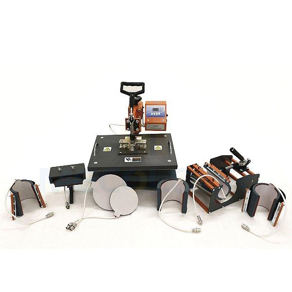 Prensa Térmica Premium Mecolour Multifuncional 8 em 1 P/Sublimação 110 Volts (A006) - 01 Unidade