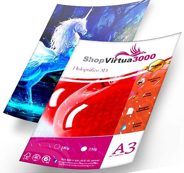 Papel Foto Glossy 3D Pontilhado Holográfico 230g - A3 Quality (P086) (Pack c/ 20 Folhas)