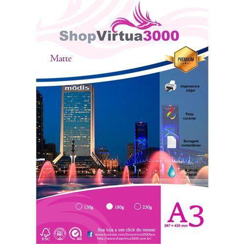 Papel Fotográfico Quality Matte Fosco A3 180g (P065) - 100 Folhas