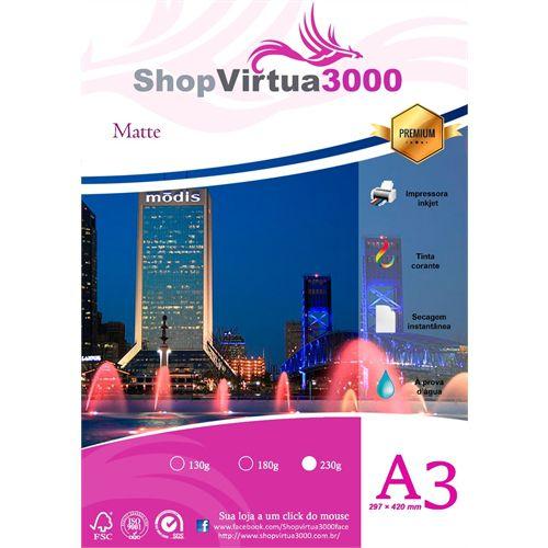 Papel Fotográfico Quality Matte Fosco A3 230g (P067) - 20 Folhas