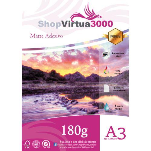 Papel Fotográfico Adesivo Matte (Fosco) 180g - A3 Quality (P080) - 20 Folhas