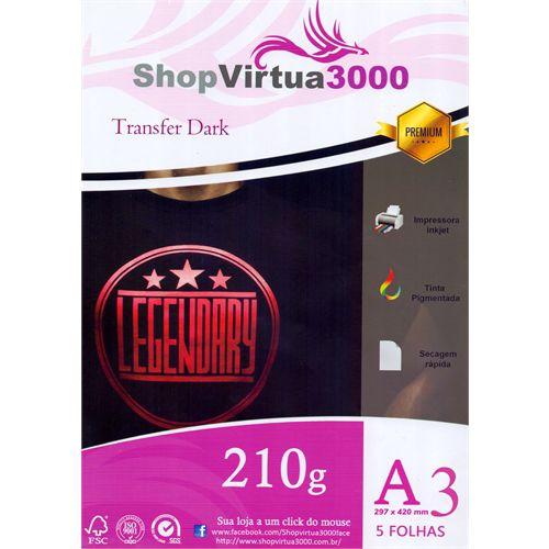 Papel Transfer Inkjet Dark A3 210g - (P073) - 05 Folhas