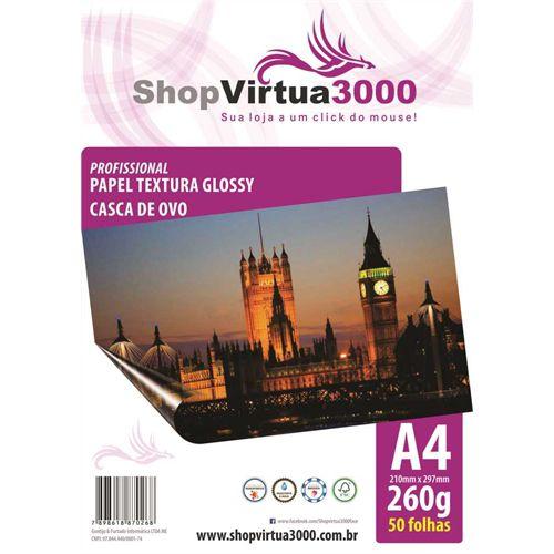 Papel Fotográfico Texturizado Casca de Ovo Glossy A4 230g - 50 Folhas
