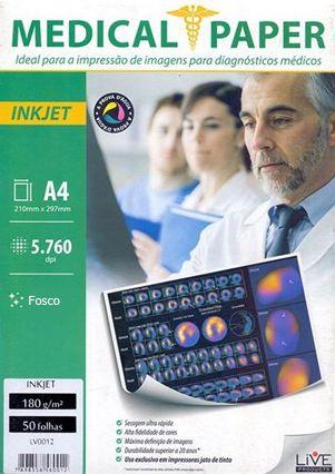 Papel Medical ShopVirtua3000® InkJet Fosco 110g A4 p/ Raio-X - Pasta 50 Folhas (000471)