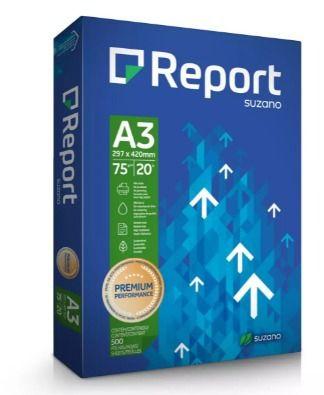 Report Papel Sulfite Premium A3 75g/m2 (500 Folhas) - 05 Unidades