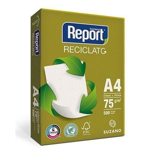 Papel Sulfite Report Reciclato A4 75g/m2 (500 Folhas) - 01 Unidade