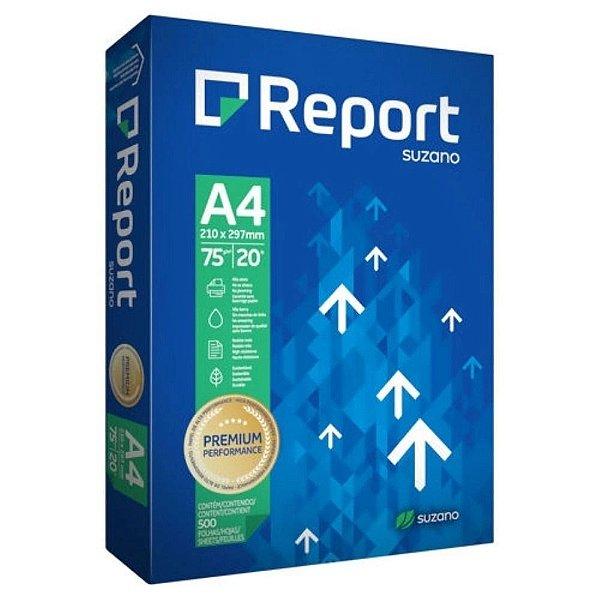 Report Papel Sulfite Premium A4 75g/m2 (500 Folhas) - 10 Unidades