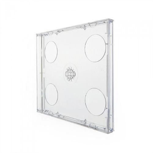 Box CD Tradicional Duplo Tray Crystal (Novo Disc) - 01 Unidade