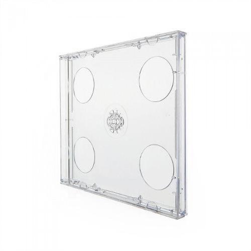 Box CD Tradicional Duplo Tray Crystal (Novo Disc) - 150 Unidades